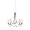 allen + roth 5-Light Drape Brushed Nickel Chandelier