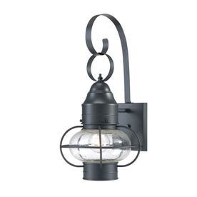 Portfolio Trevett 17.63-in H Charcoal Black Outdoor Wall Light