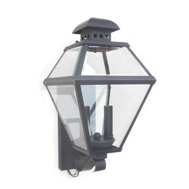Portfolio Castle Creek 15.5-in H Mystic Black Outdoor Wall Light
