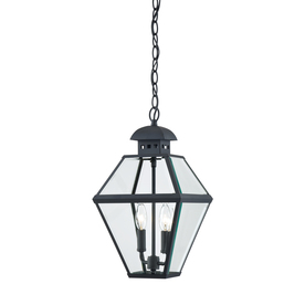 Portfolio Castle Creek 17.38-in H Mystic Black Outdoor Pendant Light