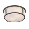 allen + roth 12.91-in W Oil-Rubbed Bronze Ceiling Flush Mount Light