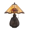 Portfolio 19.38-in Bronze Tiffany-Style Indoor Table Lamp with Tiffany-Style Shade