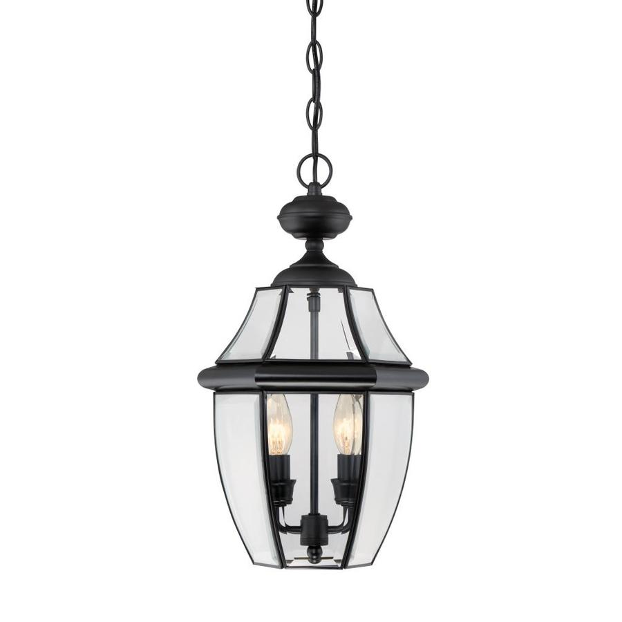 Hanging Light Fixtures At Lowes: Shop Portfolio Brayden 18.5-in Mystic Black Outdoor