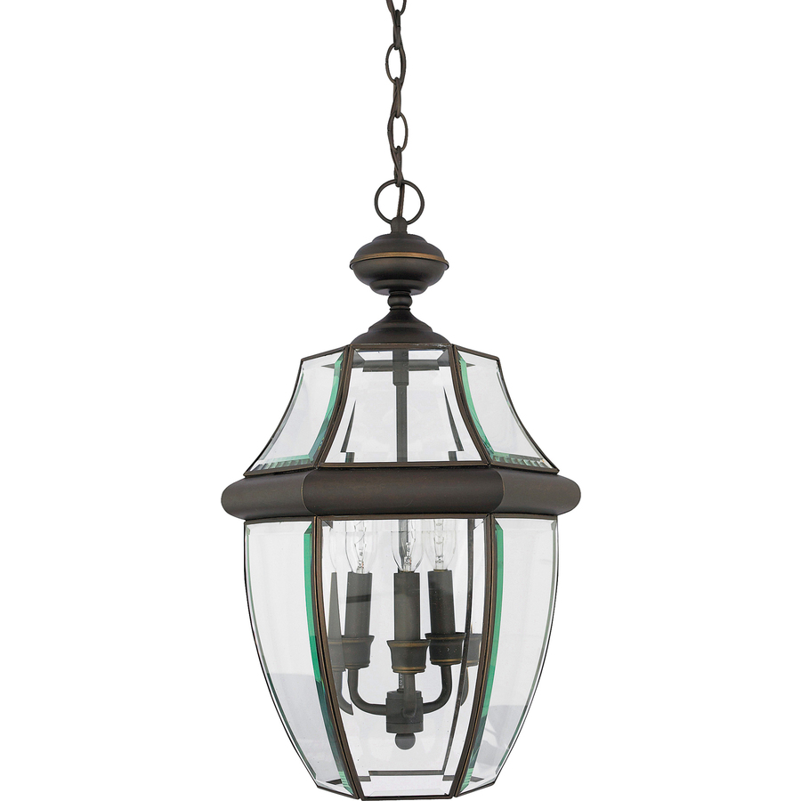 Hanging Light Fixtures At Lowes: Shop Portfolio Brayden 18.5-in Bronze Outdoor Pendant