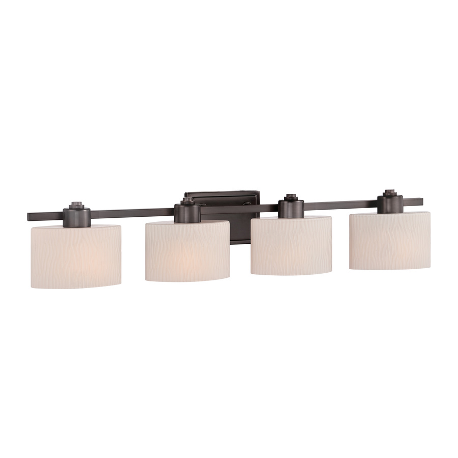 Shop allen + roth 4-Light Grayson Copper Bronze Bathroom Vanity Light at Lowes.com