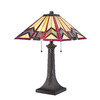 allen + roth Ascension Ridge 21-in Bronze Tiffany-Style Indoor Table Lamp with Tiffany-Style Shade