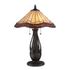 allen + roth 28-in Bronze Tiffany-Style Indoor Table Lamp with Tiffany-Style Shade