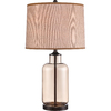 Westeros 24.5-in 3-Way Switch Black Indoor Table Lamp with Fabric Shade
