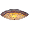 allen + roth 16.35-in W Antique Bronze Tiffany-Style Ceiling Flush Mount Light