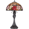 Armond 27.5-in Brown Indoor Table Lamp with Glass Shade