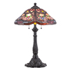 Portfolio 24-in Mystic Black Tiffany-Style Table Lamp with Shade