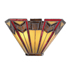 allen + roth Ascension Ridge 11.63-in W 2-Light Antique Bronze Tiffany-Style Pocket Wall Sconce