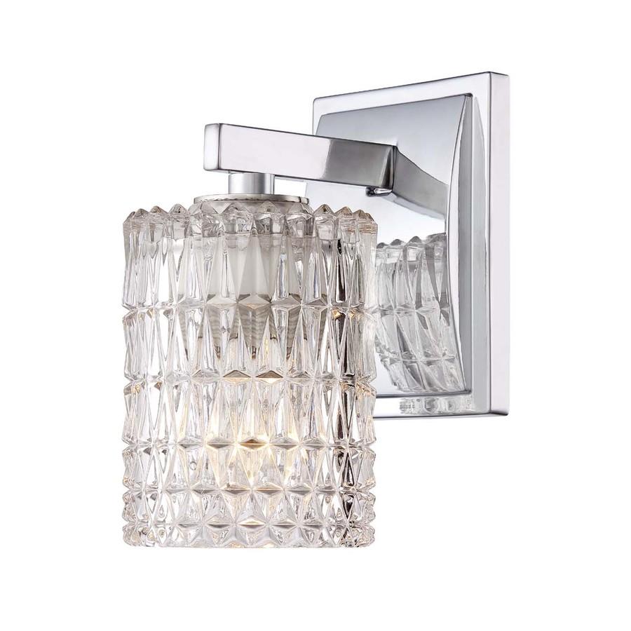 Shop Allen Roth Polished Chrome Bathroom Vanity Light At