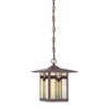 allen + roth Vistora 11-in Bronze Outdoor Pendant Light