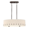 Quoizel Park Avenue 12.375-in W 4-Light Bronze Kitchen Island Light with Fabric Shade