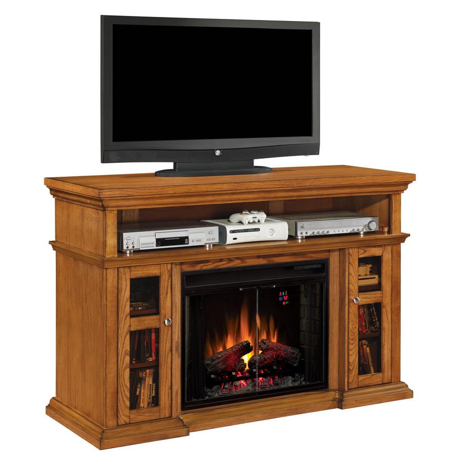 shop 60 in w 5 200 btu oak wood infrared quartz electric
