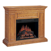 Chimney Free 50-in W Oak Wood Electric Fireplace with Thermostat and Remote Control