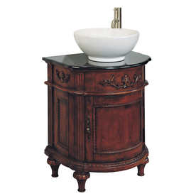 Bathroom Vanity Sinks on Shop Allen   Roth 26 In X 19 In Single Sink Bathroom Vanity With Top