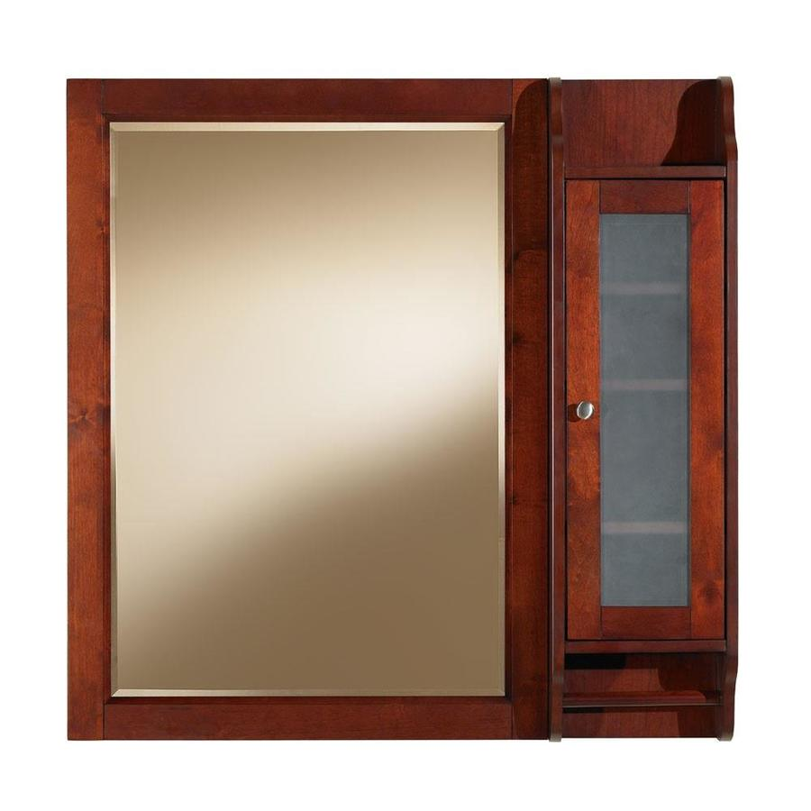 Shop allen roth largo 36 in x 36 in cherry birch surface for Medicine cabinets