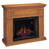 Chimney Free 53-in W 4,600-BTU Premium Oak Wood and Metal Wall Mount Electric Fireplace with Thermostat and Remote Control