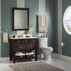 allen + roth Hagen 28-in W x 34-in H Espresso Rectangular Bathroom Mirror