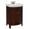 allen + roth Moravia 23-3/4-in x 18-in Cherry Sable Bathroom Vanity with Vitreous China Top