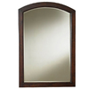 allen + roth Moravia 30-in x 22-in Cherry Sable Bath Mirror