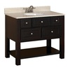 allen + roth Hagen Espresso Undermount Single Sink Birch/Poplar Bathroom Vanity with Engineered Stone Top (Common: 36-in x 21-in; Actual: 36-in x 21-in)