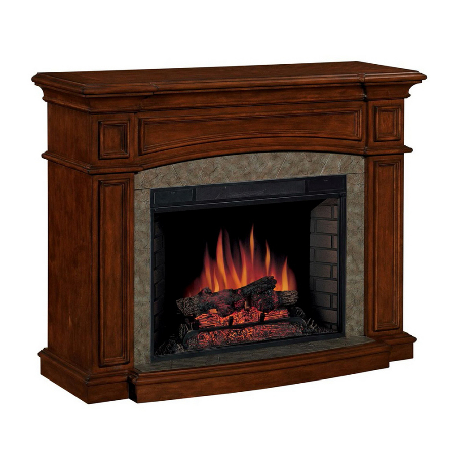 Shop Allen Roth 33 Traditional All In One Electric Fireplace At
