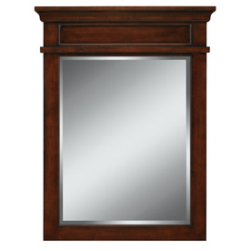 allen + roth Hartley 26-in W x 34-in H Mink Rectangular Bathroom Mirror