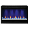 ClassicFlame 8-in Black Electric Fireplace Insert