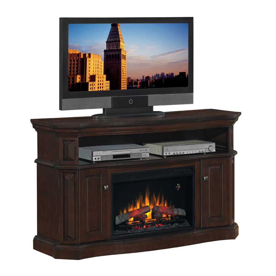 Shop Chimney Free 60 Walnut Electric Fireplace At