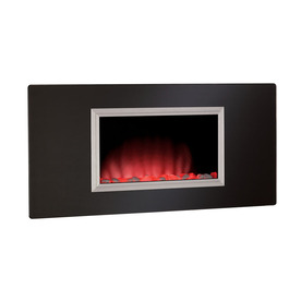 Shop Chimney Free 35 43 in Black Wall Mount Electric