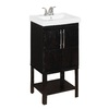 Style Selections Foley Espresso Integral Single Sink Oak Bathroom Vanity with Vitreous China Top (Common: 24-in x 19-in; Actual: 24-in x 19.25-in)
