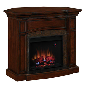 Shop Style Selections 4600 Btu Electric Fireplace With Remote At