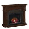 Chimney Free 50-in W 4,600-BTU Premium Cocoa Cherry Wood and Metal Wall Mount Electric Fireplace with Thermostat and Remote Control