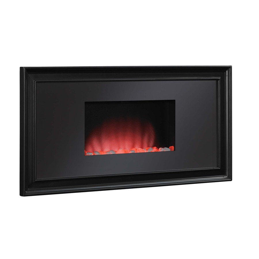 Shop Chimney Free Black Wall Mount Electric Fireplace At