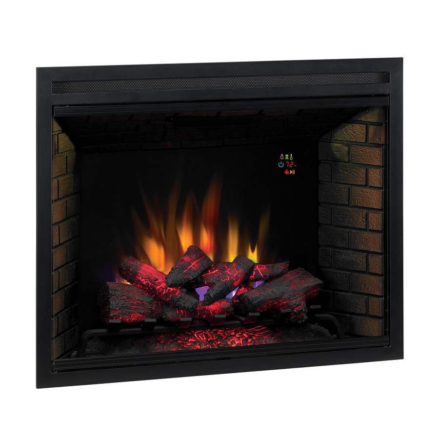 Shop 38 9 In Black Electric Fireplace Firebox At