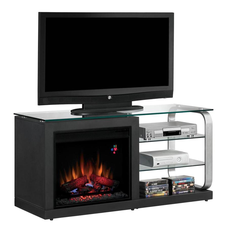 Shop Chimney Free 52 In W 4 600 Btu Black Wood Fan Forced Electric Fireplace With Thermostat And