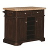 Tresanti Fontaine Roasted Cherry Rectangular Kitchen Cart