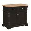 Tresanti Montclair Espresso Rectangular Kitchen Cart