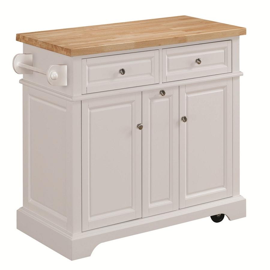 Shop tresanti summerville white adjustable kitchen cart at for Kitchen island cart