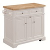 Tresanti Summerville White Adjustable Kitchen Cart