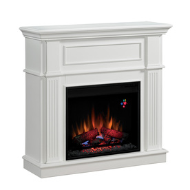 Shop Chimney Free 41 In White Electric Fireplace At