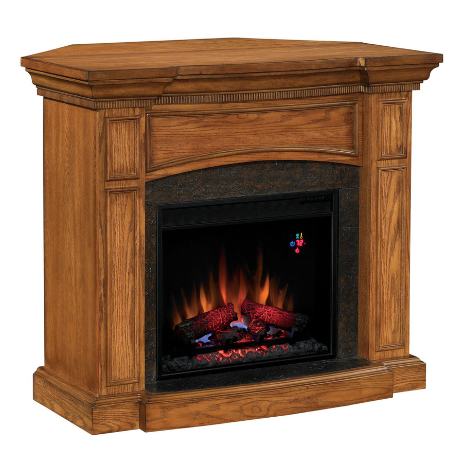 Shop Chimney Free 44 Premium Oak Corner Or Wall Mount Electric Fireplace At