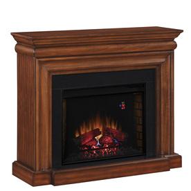 Shop allen roth 50 in W 4 600 BTU Java Wood and Metal