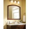 allen + roth Moravia 32-in W x 32-in H Sable Bathroom Mirror