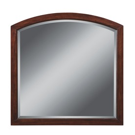 allen + roth 32-in H x 32-in W Moravia Cherry Sable Arch Bathroom Mirror