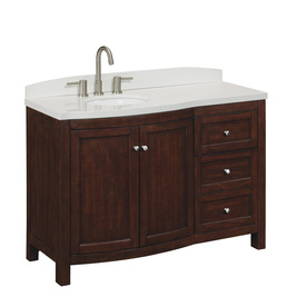 Shop allen + roth 48-in Sable Moravia Single Sink Bathroom Vanity with