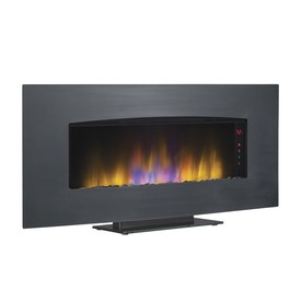 Shop 40 39 in Black Electric Fireplace Insert at Lowes